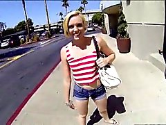 Blonde Miley May fucks stranger for cash