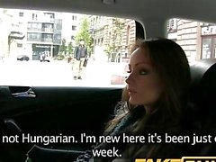 FakeTaxi Hungarian brunette takes on big thick cock