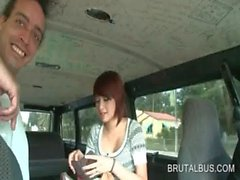 Teen amateur picked up to get nasty in the sex bus