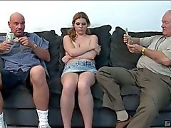 Victoria cross molested by two horny mature guys