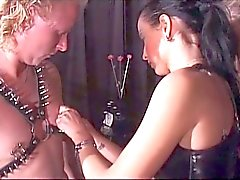 Dude slaved and punished by two hot ladies