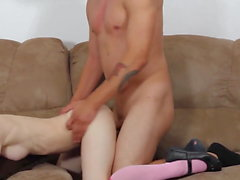 Masturbates sleeping babe and cums on face
