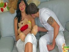 Teen girl geetting pregnant by teen boy