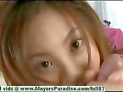 Natsumi Mits innocent cute chinese girl gives a great blow job