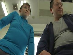 Japanese milf squirts all over the place