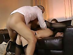 Teen threeway with oldies