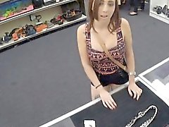 Girl fucks pawn man to pay for her chain she pawned