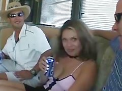 Hot stepmom picked up for bangvan anal