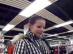 Striking czech girl was seduced in the hypermarket and naile