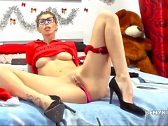 Amazing Shaved Nerdy Model Filmed Herself While Seducing You