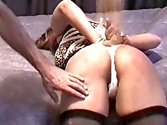 Horny hottie has her ass spanked