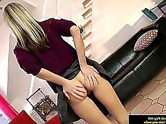 British teen schoolgirl amateur in stockings