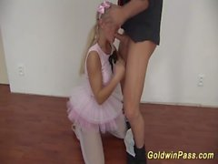 cute flexible ballerina gets fisted