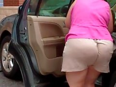 Mom Fat Old - Spying Big Butt - Bend Over