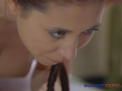 Massage Rooms Czech beauty gets surprise Valentine creampie from her lover