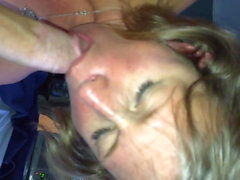 Mature older married women sucks my young cock