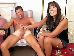 Handjob and post orgasm torture