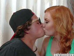 OnlyTeenBJ RedHair teen fucking her BF before