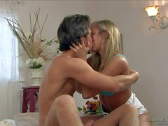 Lusty blonde Chastity gets her hands on young lover