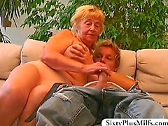 Teen boy fucking old slut