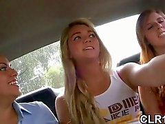 Babe sucking in a car