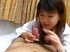 chinese schoolgirl gives a blowjob