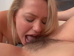 Lesbian stepmom fingering and pussylicking