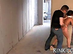 Bound college teen gets ravaged from behind
