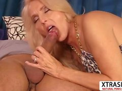 Nasty Mom Chery Leigh Gives Blowjob Hard Hot Step son