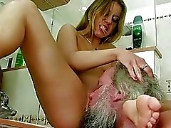 Teen punishing grandpa