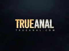 TRUE ANAL Marley Brinx has her ass filled with cum
