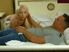 Hot and horny blonde Zoya blowing hard