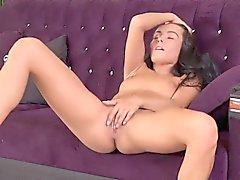 Flawless czech hottie lexi dona masturbates and orgasms