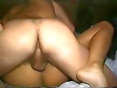 Drunk girl on her back taking his cock