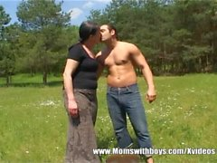 FarmBoy Gets Tall Mature Slut Horny