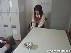 Japanese schoolgirl forced for shoplifting 8