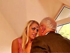 Old step dad and young brunette fucks old man Paul rigid dri