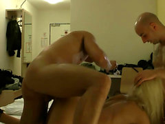 German amateur skinny blonde behind the scenes