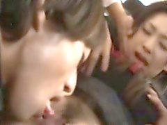 Publicsex oriental groped on the bus