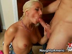 Shaved pornstar titty fuck with facial
