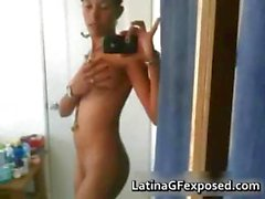Adorable Latina selfshots video 1 part3