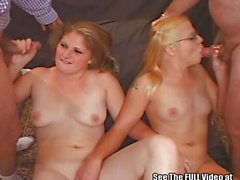 Teen Dropout Girls Cum Swap Numerous Blow Bang Cocks