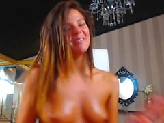 Brunette Teen Masturbation with Multiple Orgasm