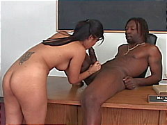 Hot asian schoolgirl drilled hard by a huge fat black cock