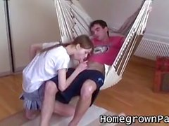 Teen whore Beata gets her hairy pussy pounded hard