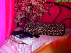 brunette teen playing with a pink dildo 3 .wmv