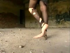 Nylon stockings pantyhose footjobs foot fetish sex
