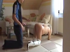Young pregnant blonde creampie