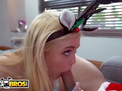 BANGBROS - Petite Young Blonde Anastasia Knight Fucked By Santa Claus