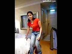 Filipina maid in Taiwan strips fucks cowboy s